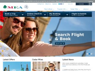 طيران الشرق الأوسط - mea.com.lb