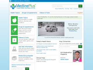 Medline Plus - medlineplus.gov