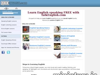 تعلم اللغة الانجليزية موقع تعليمي تحدث الإنجليزية - talkenglish.com